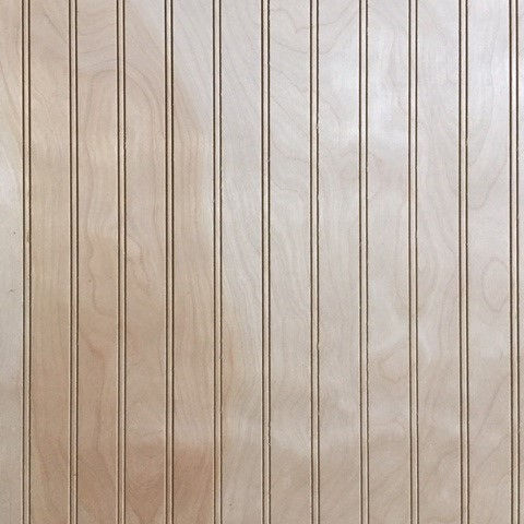 3/16 4 x 8 mdf  unfinished 1.5 in. Beaded Birch paneling