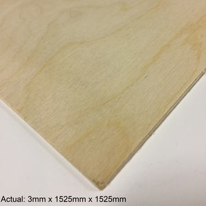1/8 5 x 5 Baltic Birch (3 ply) BB/BB Plywood