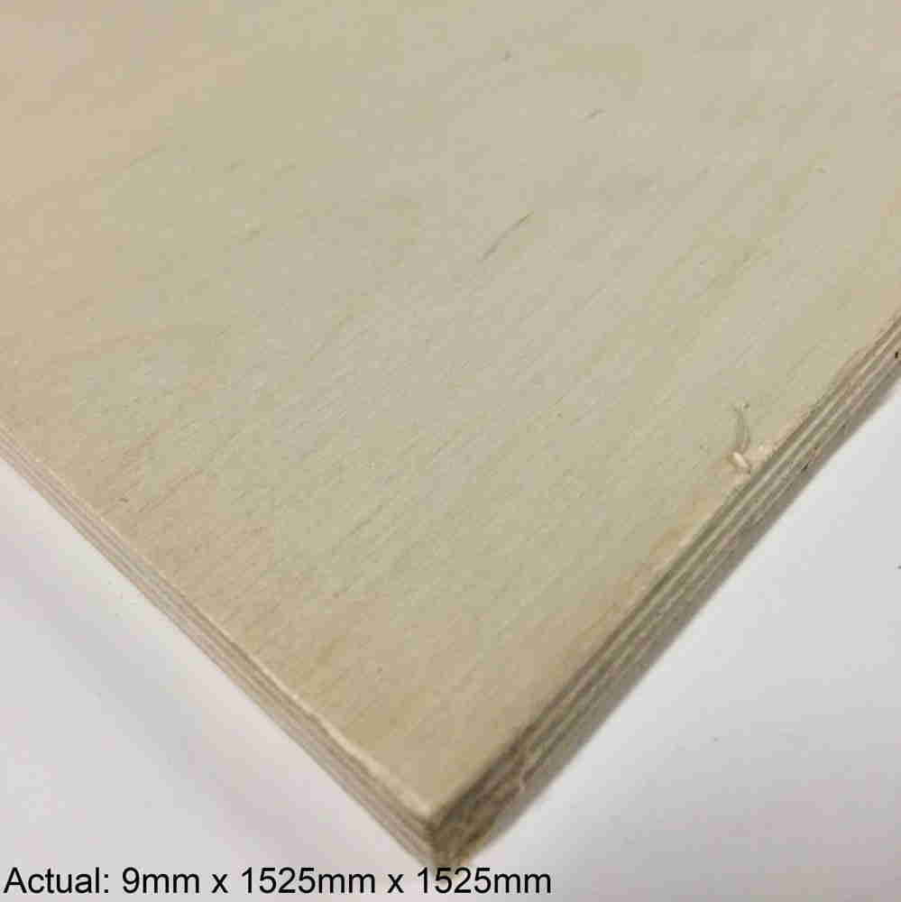 3/8 5 x 5 Baltic Birch (7 ply) BB/BB Plywood