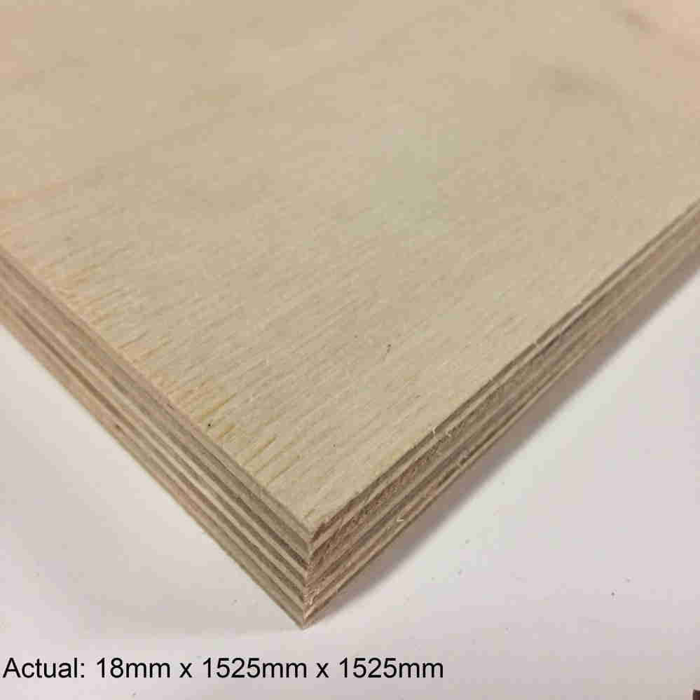 3/4 5 x 5 Baltic Birch (13 ply) BB/BB Plywood