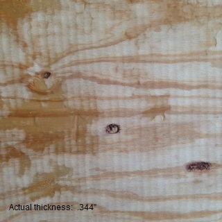 3/8 4 x 8  cdx rated sheathing plywood