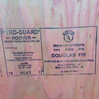 3/4 4 x 8 cdx interior fire treated (pyroguard) Plywood