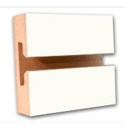 3/4  4 x 8 Slatwall White