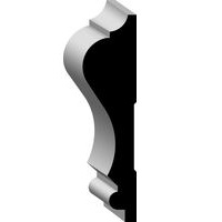 WM 390 11/16 x 2 5/8 finger jointed primed Pine chair rail molding /ft.