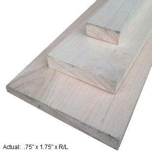 1 x 2 maple board per linear ft