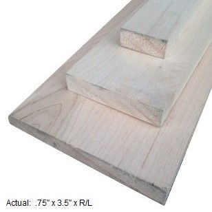 1 x 4 maple board per linear ft