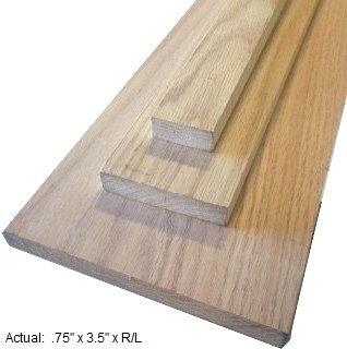 1 x 4 oak board per linear ft