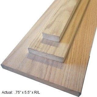 1 x 6 oak board per linear ft