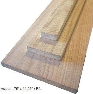 1 x 12 oak board per linear ft