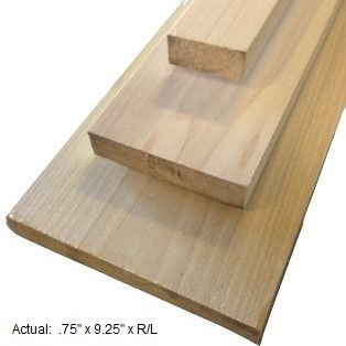 1 x 10 poplar board per linear ft