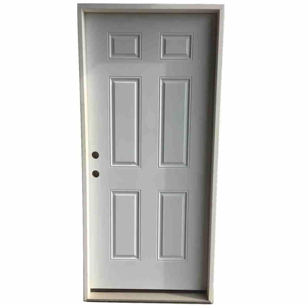 2-10 X 6-8 6 PANEL Fiberglass S&D RH DOOR