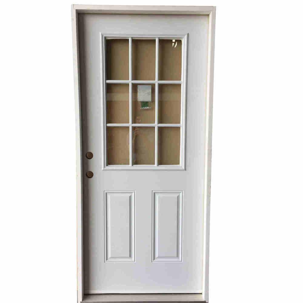 2-8 X 6-8 9 LITE FIBERGLASS S&D RH DOOR