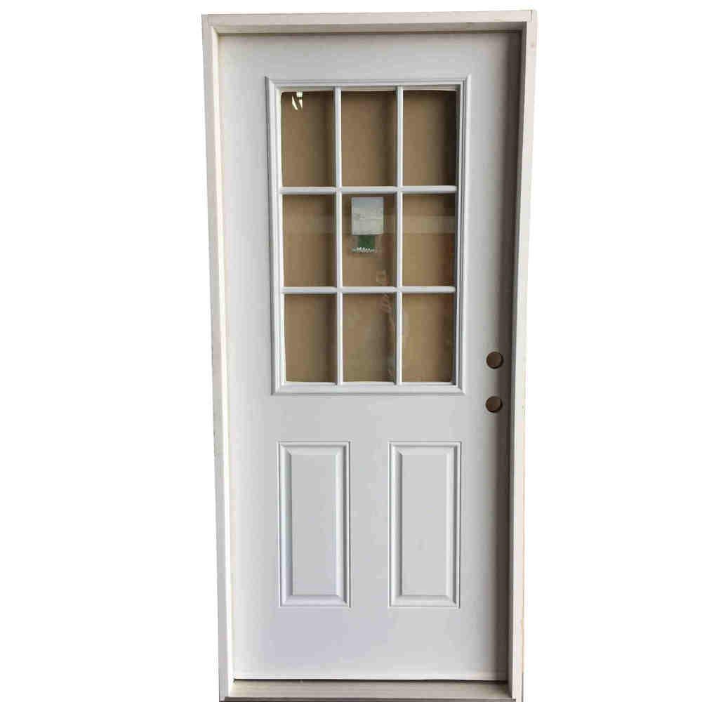 2-8 X 6-8 9 LITE INTERNAL GRID FIBERGLASS S&D LH DOOR