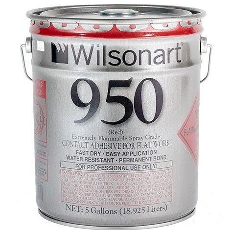 5 gallon Wilsonart 950 Red contact cement Spray Grade