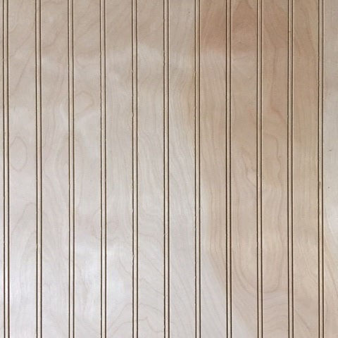 3/16 4 x 8 plywood unfinished 1.5 in. Beaded Birch paneling