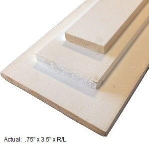 1 x 4 primed board per linear ft