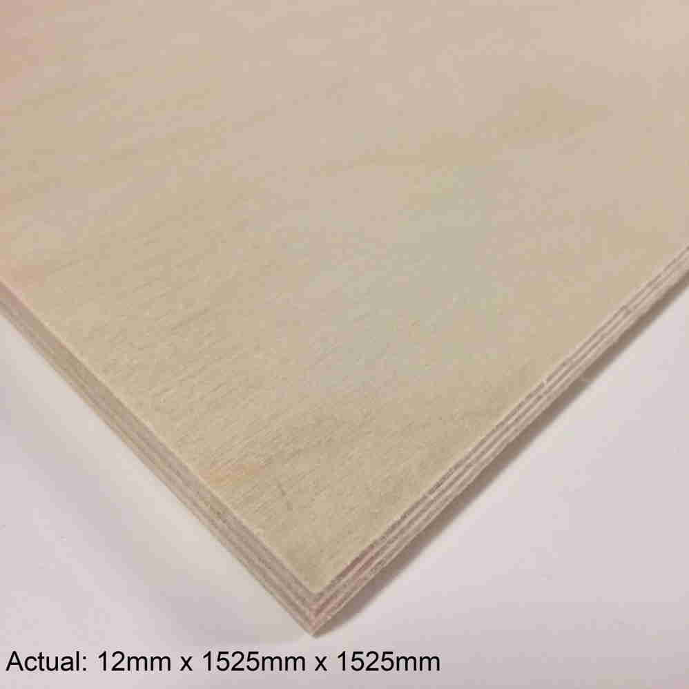 1/2 5 x 5 Clear Face Baltic Birch (9 ply) B/BB Plywood