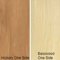 1/2 4 X 8 VC HICKORY / BASSWOOD SHOP