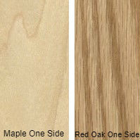 3/8 4 X 8 VC RED_OAK / MAPLE VINYL BACK SHOP
