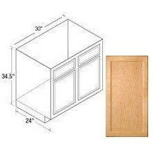 30rbs Range Sink Base Cabinet Mellowood Maple Kitchen Kompact