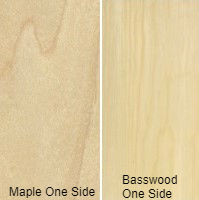 3/4 4 X 8 VC MAPLE / BASSWOOD SHOP