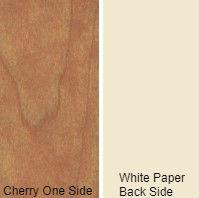 3/4 4 X 8 VC CHERRY / WHITE PAPER BACK SHOP  N