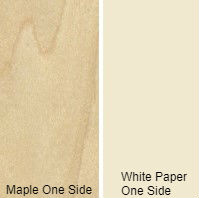 3/4 4 X 8 VC MAPLE / WHITE PAPER BACK SHOP