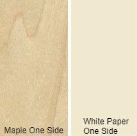 3/4 4 X 8 VC MAPLE / WHITE PAPER BACK SHOP