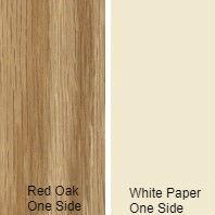 3/4 4 X 8 VC RED_OAK / WHITE PAPER BACK SHOP