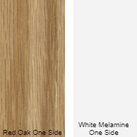 11/16 4 X 8 CC RED_OAK / WHITE MELAMINE SHOP