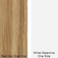 11/16 4 X 8 CC RED_OAK / WHITE MELAMINE SHOP