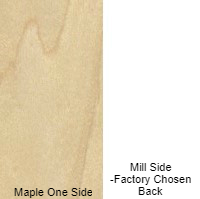 1 in 4 X 8  VC MAPLE / MILL SHOP UV2S