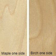 3/4 4 X 8 COMBO CORE V/C MDF MAPLE / BIRCH SHOP UV BIRCH SIDE