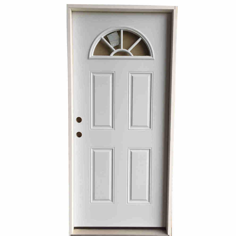 2-6 X 6-8  FAN LITE  STEEL S&D RH DOOR