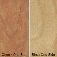9/16 4 X 8 COMBO CORE V/C MDF CHERRY / BIRCH SHOP