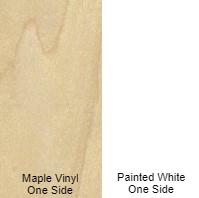 1/2 4 X 8 VC MAPLE VINYL / PAINTED WHITE SHOP