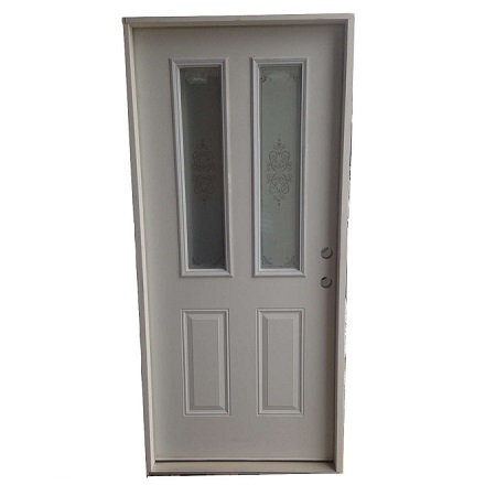 3-0 X 6-8 2 LITE SCREEN PRINT FIBERGLASS S&D LH DOOR