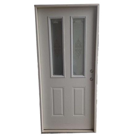 3-0 X 6-8 2 LITE SCREEN PRINT FIBERGLASS S&D LH DOOR