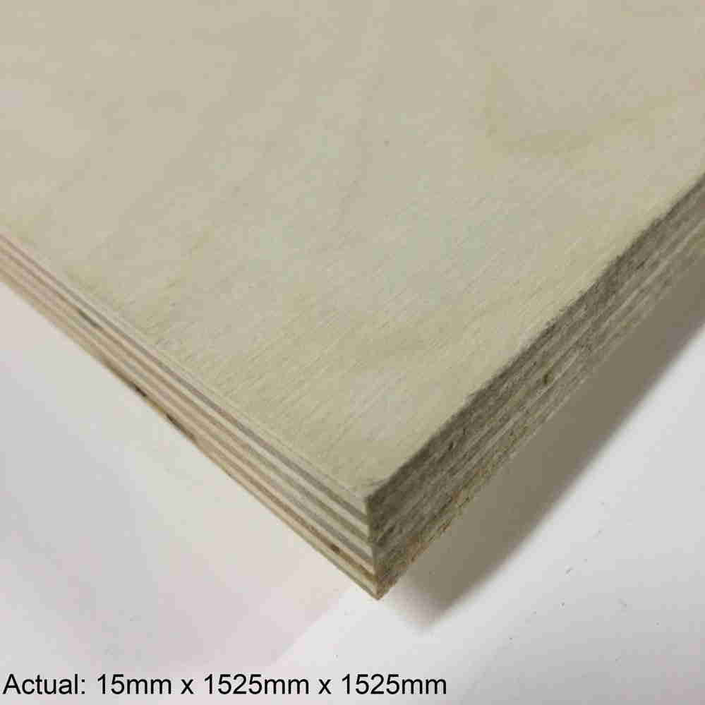 5/8 5 x 5  No Patch Face Baltic Birch (11 ply) B/BB Plywood