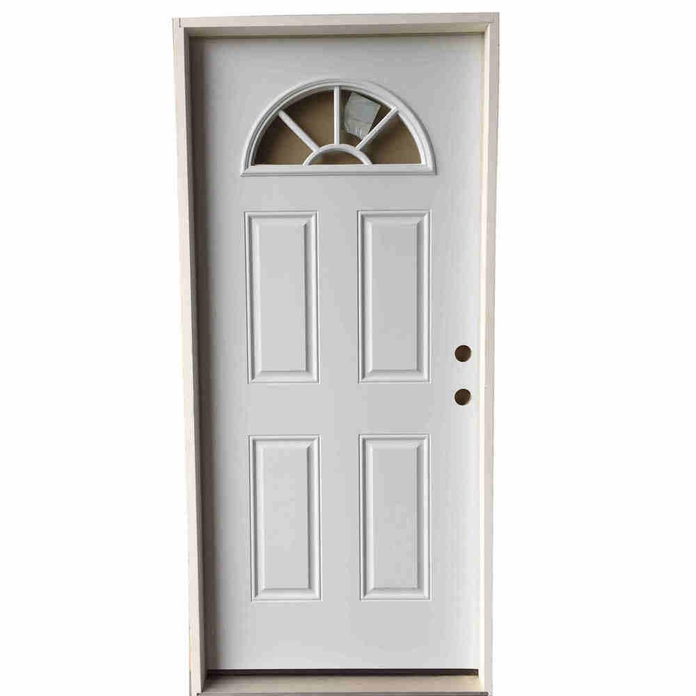 2-6 X 6-8  FAN LITE  FIBERGLASS S&D LH DOOR
