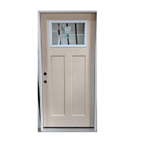 3-0 X 6-8  1 LITE CRAFTSMAN FIBERGLASS S&D RH DOOR