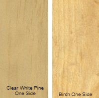 1/4 4 X 8 VC CLEAR WHITE_PINE / BIRCH SHOP