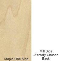 3/4 4 X 8 COMBO CORE V/C MDF MAPLE / MILL SHOP