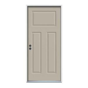 2-6 X 6-8  3 PANEL STEEL S&D RH DOOR