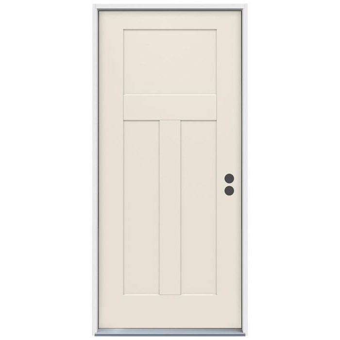 3-0 X 6-8  3 PANEL FIBERGLASS S&D LH DOOR