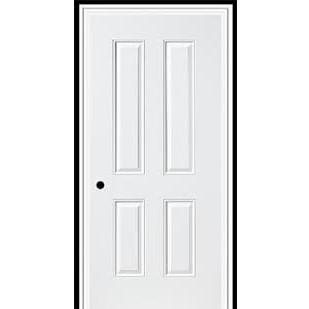 3-0 X 6-8  4 PANEL STEEL S&D LH DOOR