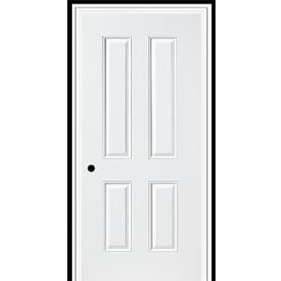 3-0 X 6-8  4 PANEL STEEL S&D LH DOOR