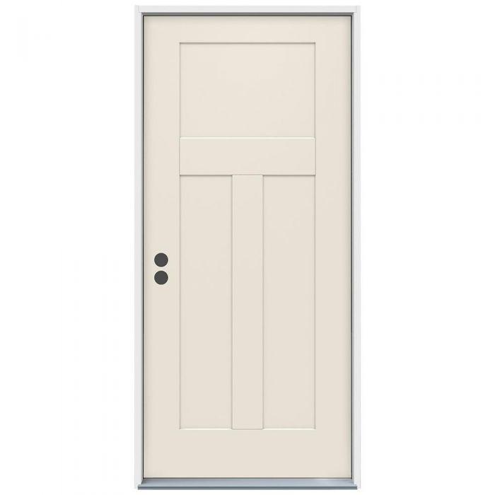 3-0 X 6-8  3 PANEL FIBERGLASS S&D RH DOOR
