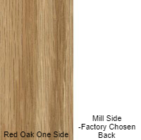 3/4 44 X 95 VC RED_OAK / MILL SHOP