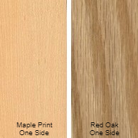 3/4 4 X 8 VC RED_OAK / MAPLE PRINT SHOP